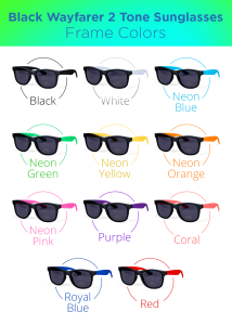 Retro two-toned sunglasses with black front