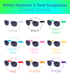 Retro two-toned sunglasses with white front