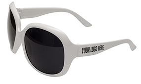 White Jackie Sunglasses at LogoLenses