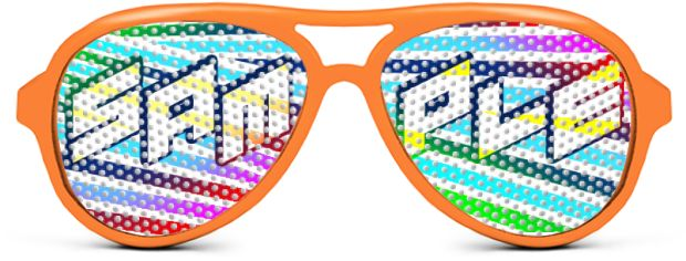 Aviator Logo Lenses® style Neon Orange