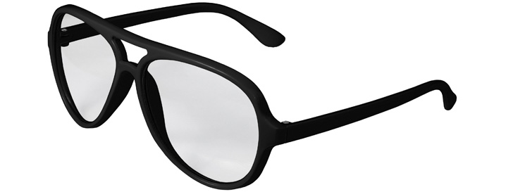 Black Aviator Clear Lenses