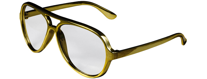 Gold Aviator Clear Lenses
