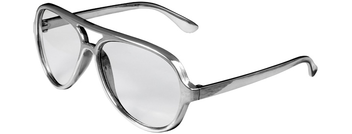 Silver Aviator Clear Lenses