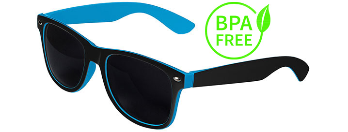 Black / Blue BPA Free Retro In&Out Sunglasses