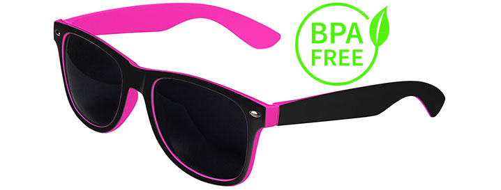 Black / Pink BPA Free Retro In&Out Sunglasses