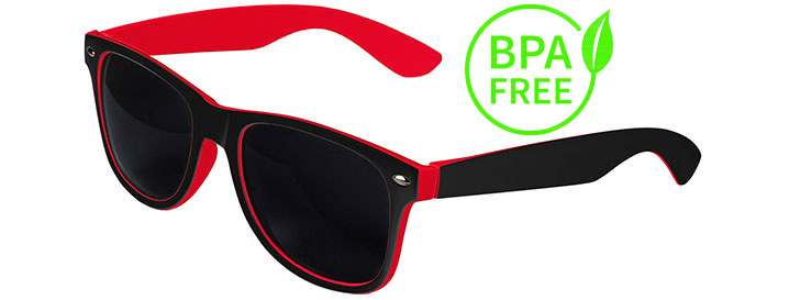 Black / Red BPA Free Retro In&Out Sunglasses