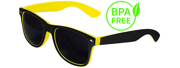 Black / Yellow BPA Free Retro In&Out Sunglasses