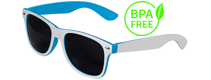 White / Blue BPA Free Retro In&Out Sunglasses