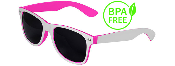 White / Pink BPA Free Retro In&Out Sunglasses
