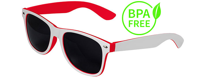 White / Red BPA Free Retro In&Out Sunglasses