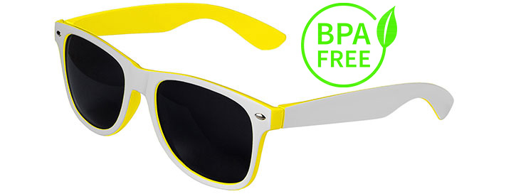 White / Yellow BPA Free Retro In&Out Sunglasses