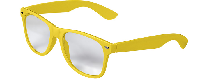 Neon Yellow Retro Clear Lenses