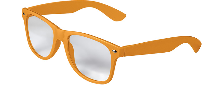 Retro Clear Lenses style Neon Orange