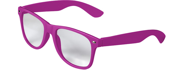 Retro Clear Lenses style Neon Purple