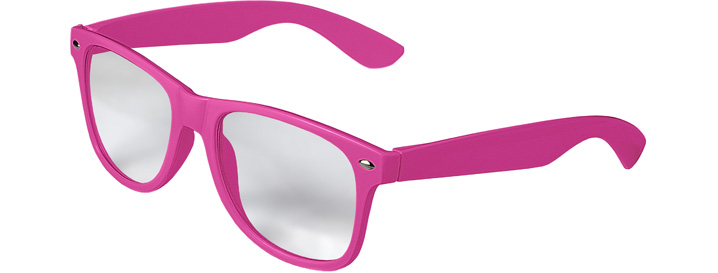 Retro Clear Lenses style Neon Pink