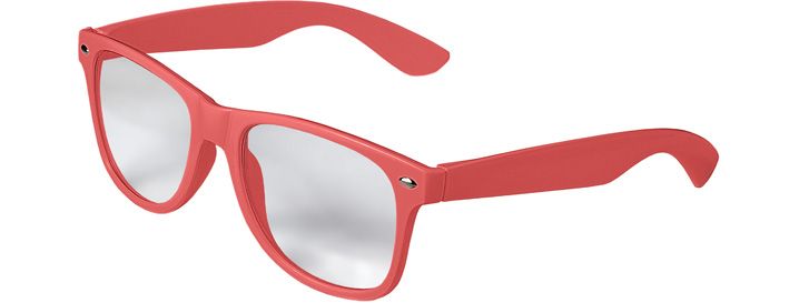 Retro Clear Lenses style Neon Coral