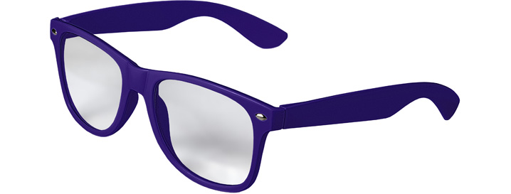 Retro Clear Lenses style Purple