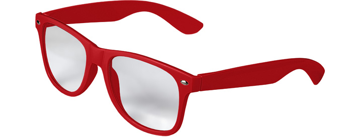 Retro Clear Lenses style Red