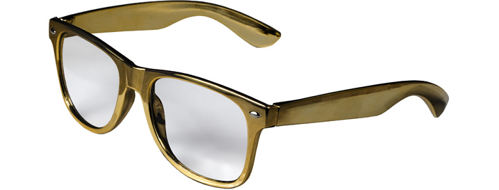 Retro Clear Lenses style Gold