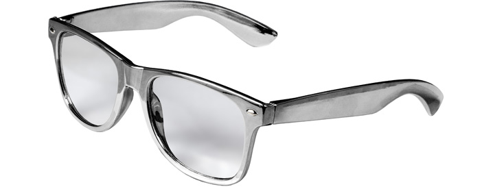 Retro Clear Lenses style Silver