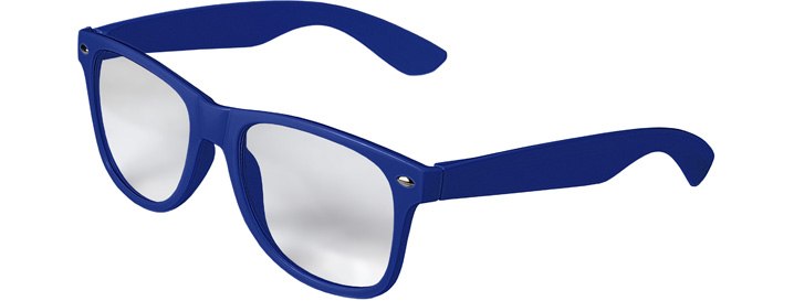 Retro Clear Lenses style Royal Blue