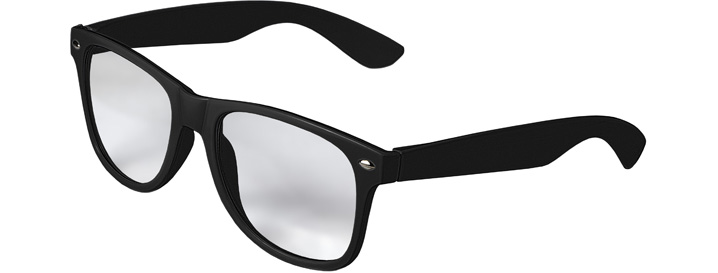 Retro Clear Lenses style Black