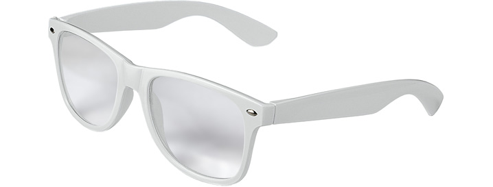 Retro Clear Lenses style White