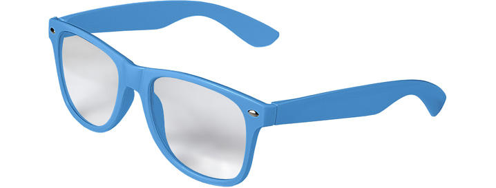 Retro Clear Lenses style Neon Blue