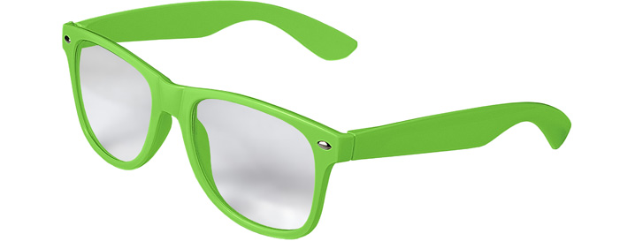 Retro Clear Lenses style Neon Green
