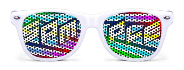 Retro Kids Logo Lenses® Sunglasses style White