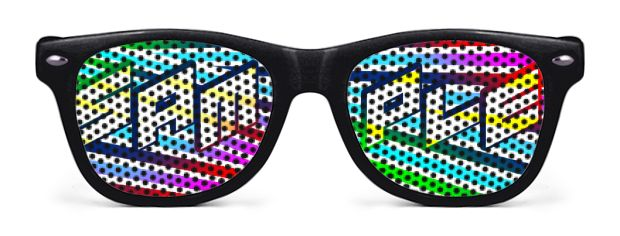 Retro Kids Logo Lenses® Sunglasses style Black