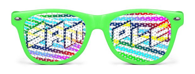 Retro Kids Logo Lenses® style Neon Green