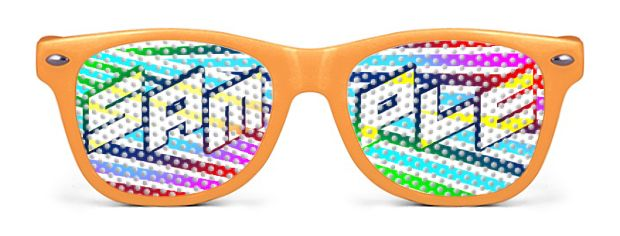 Logo Lenses® Rétro Enfant style Neon Orange