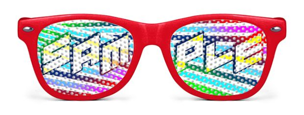 Retro Kids Logo Lenses® style Red