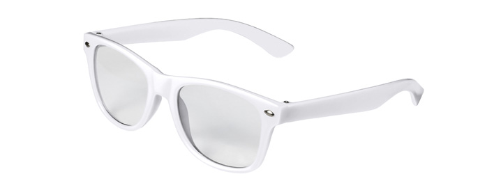 Retro Kids Clear Lenses style White