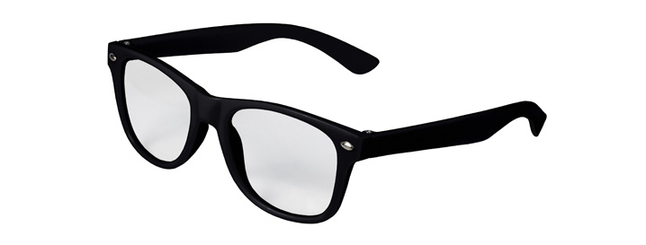 Retro Kids Clear Lenses style Black