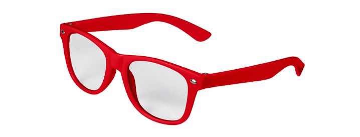 Retro Kids Clear Lenses style Red