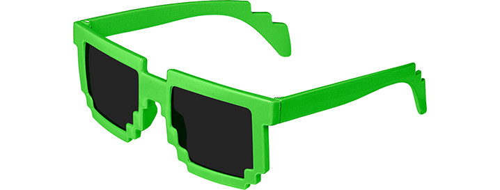 Neon Green Pixel Sunglasses