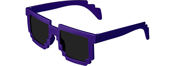 Purple Pixel Sunglasses