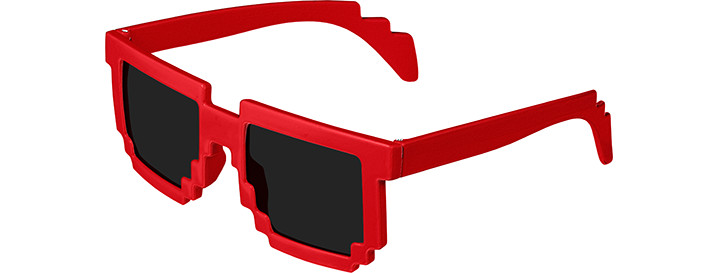 Pixel Sunglasses style Red
