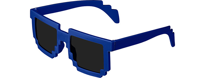 Royal Blue Pixel Sunglasses