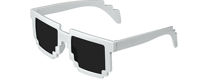 White Pixel Sunglasses