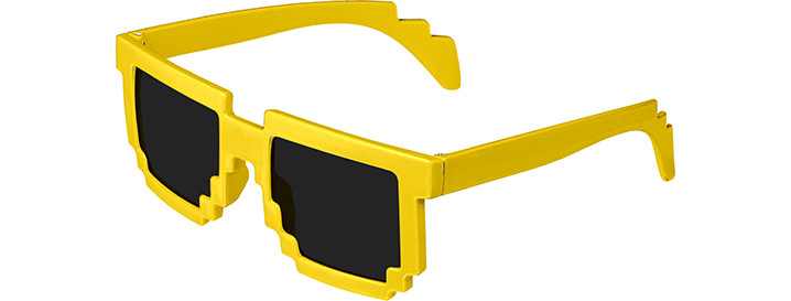 Neon Yellow Pixel Sunglasses