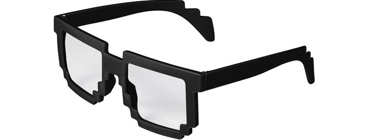 Black Pixel Clear Lenses