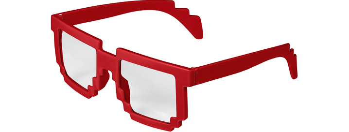 Pixel Clear Lenses style Red