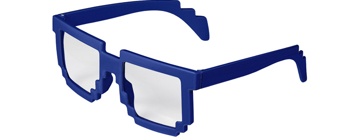Royal Blue Pixel Clear Lenses
