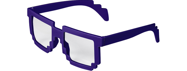 Purple Pixel Clear Lenses