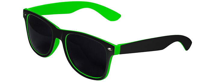 Retro In&Out Sunglasses style Black / Green