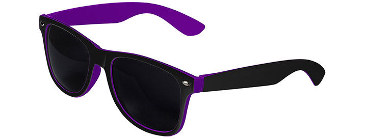 Retro In&Out Sunglasses style Black / Purple