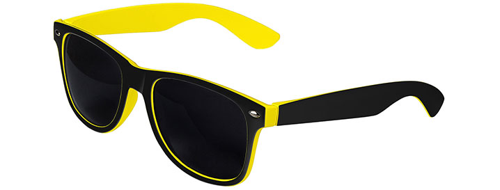 Retro In&Out Sunglasses style Black / Yellow